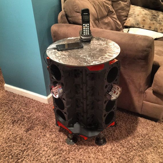 Chevy Engine Block End Table by TrentsKustoms on Etsy