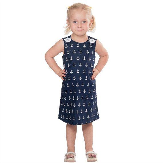 Nautical dress pinafore dress toddler dress by CraftaholicShop