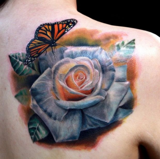 10 Realistic White Rose Tattoos
