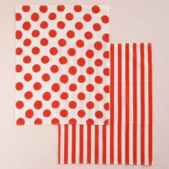 "Washcloth""Red and White| kisara"