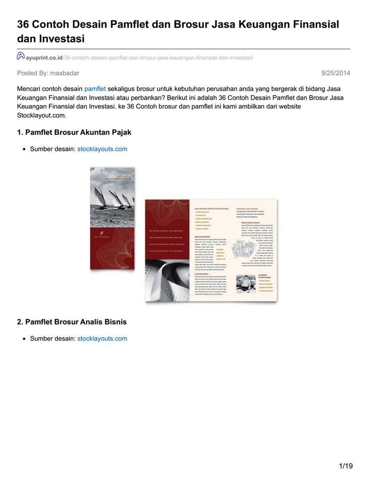 Ayuprint co id 36 contoh desain pamflet dan brosur jasa keuangan finansial dan investasi