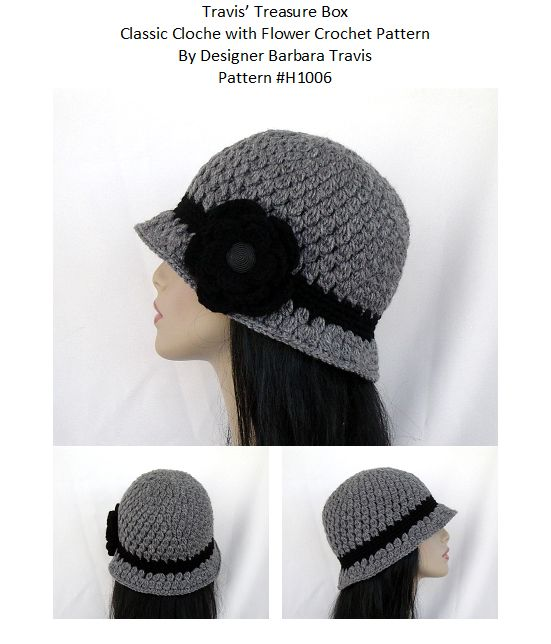 Classic Cloche with Flower Crochet Hat
