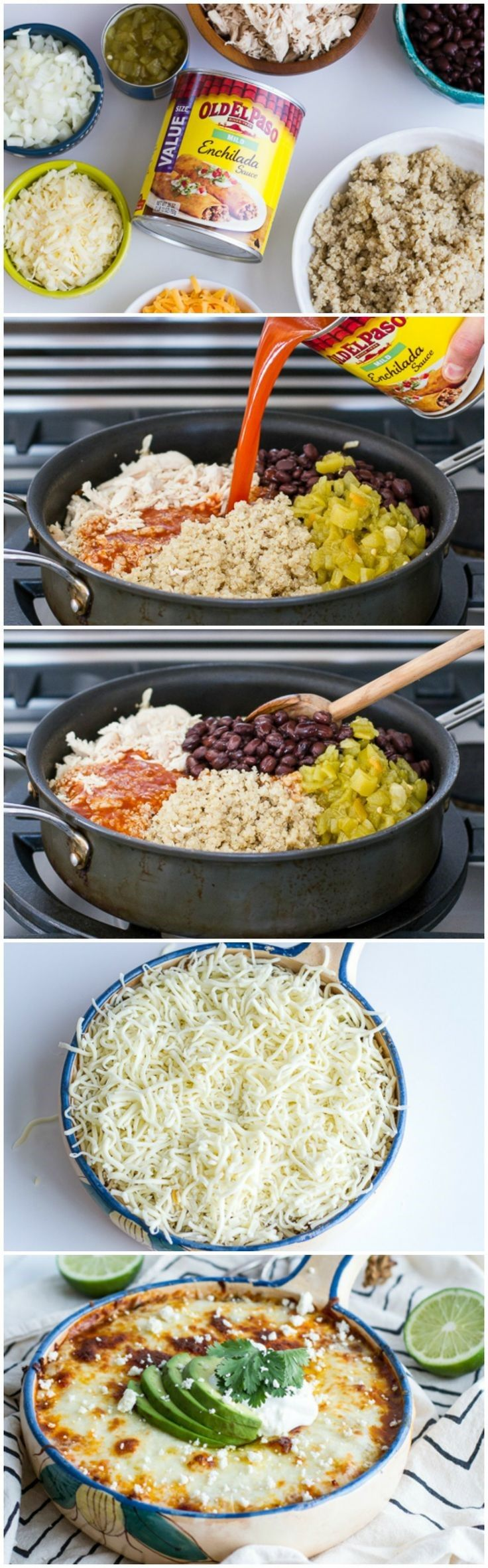 This healthy alternative to enchiladas will blow your mind! Such a simple dish that you can jazz up with any of your favorite taco/enchilada toppings. A great option for your next potluck fiesta or...