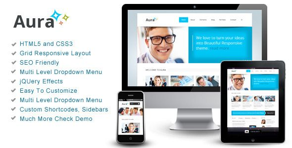 Aura – Responsive Theme - Corporate Site Templates