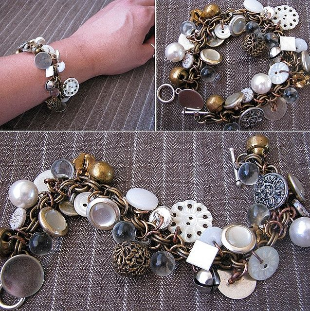 DIY Button Bracelet....I would love to wear my favorites