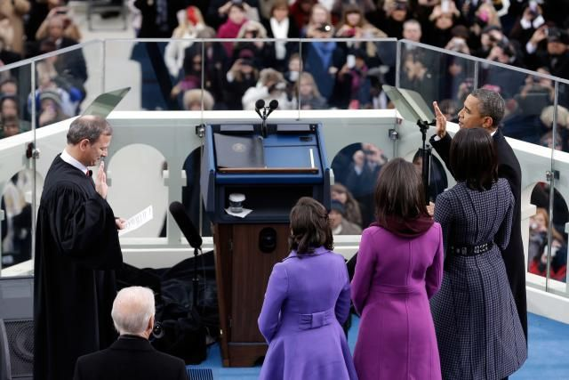 About the U.S. Presidential Oath of Office: Do they always hold a Bible?