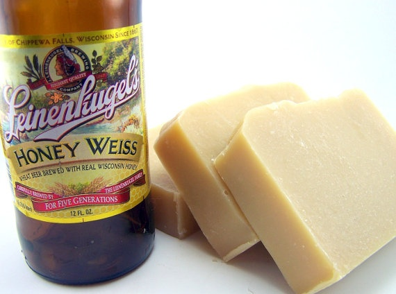 Beer Soap . Honey Weiss Beer Cold Process Soap with Shea Butter by WickedSoaps. $6.00, via Etsy.