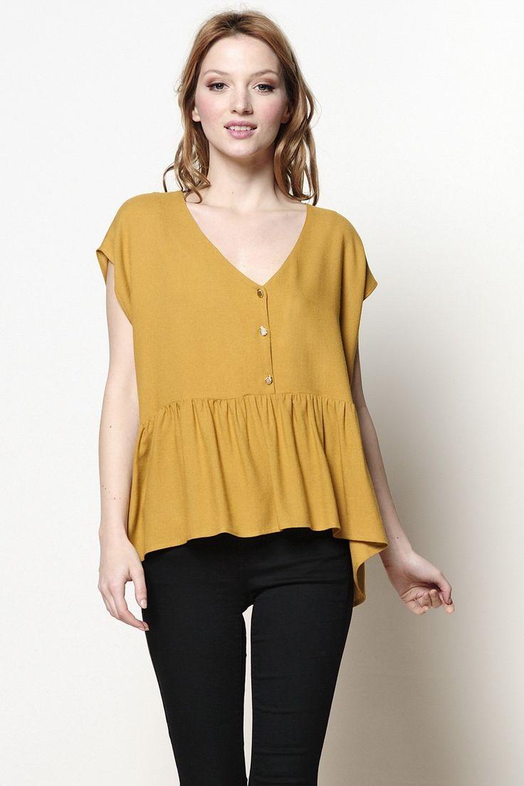 blouse Quai miel 85% viscose, 15% laine - blouse - Des Petits Hauts
