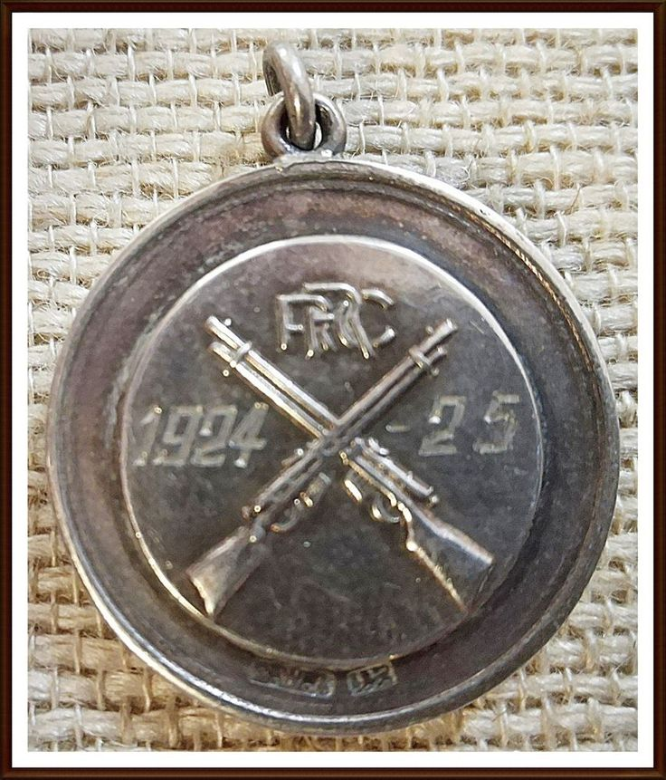 Royal Rifle Corps Hallmarked Silver Shooting Medal. A Class Aggregate 1924-5
