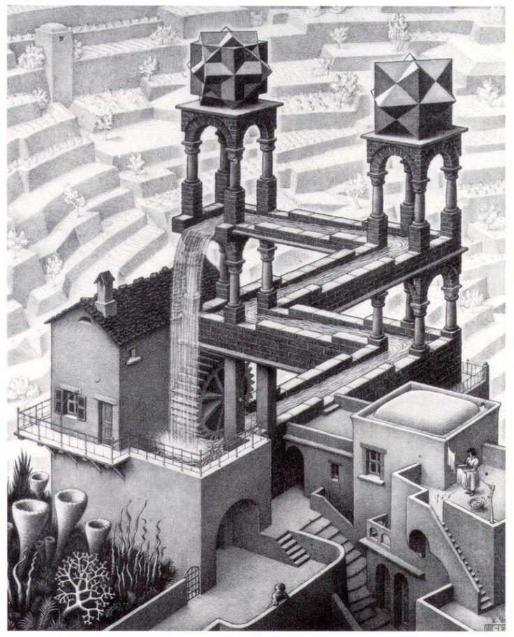MC Escher - Waterfall 1961