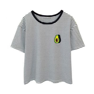 Avocado Striped T-Shirt via Cloud 97. Click on the image to see more!