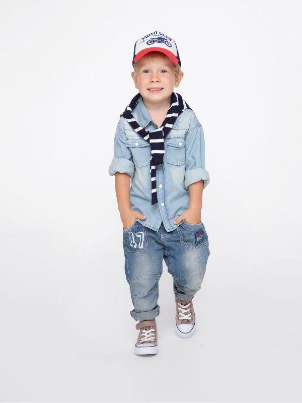 Jeansowa koszula dla chłopca. Ubrania dla dzieci Happy Kids