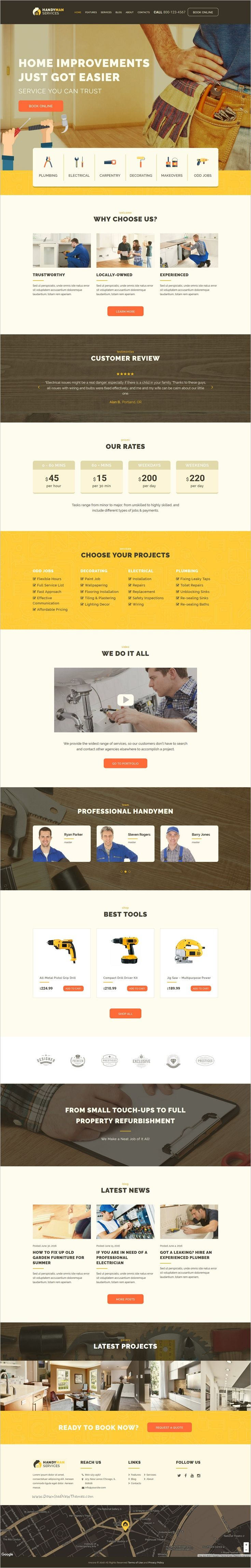 Handyman is modern and functional 3in1 responsive #WordPress #theme for #construction, maintenance and repair business websites download now➩ https://themeforest.net/item/handyman-construction-repair-services-wordpress-theme/17159886?ref=Datasata