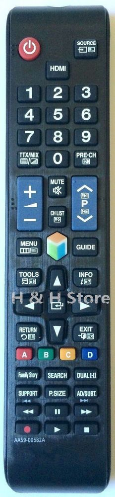 NEW REMOTE CONTROL AA59-00582A Fit for most of Samsung LCD LED HD Smart TV #UnbrandedGeneric