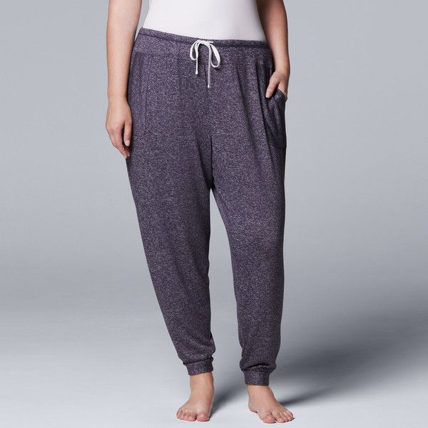 Plus Size Simply Vera Vera Wang Waking Hours Cropped Pant (100 ILS) ❤ liked on Polyvore featuring plus size women's fashion, plus size clothing, plus size pants, plus size capris, blue, plus size, draw string pants, plus size crop pants, plus size capri pants and cropped capris
