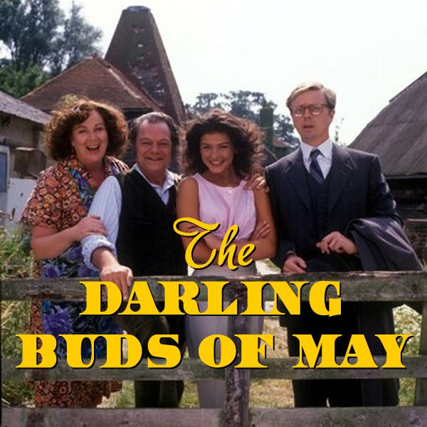 'The Darling Buds of May' (1991-1993) Comedy/drama TV series based on the popular books by H. E. Bates 'The Darling Buds of May' (1958), & its sequels.Set during the sunny 1950s, the story of the indestructible Larkins, a family who lead an idyllic, flamboyant life in the Kent countryside, enlivened by Pop Larkin's never-ending entrepreneurial adventures & the fierce devotion of each family member to one another through good times & bad. Series made a star of Catherine Zeta-Jones.