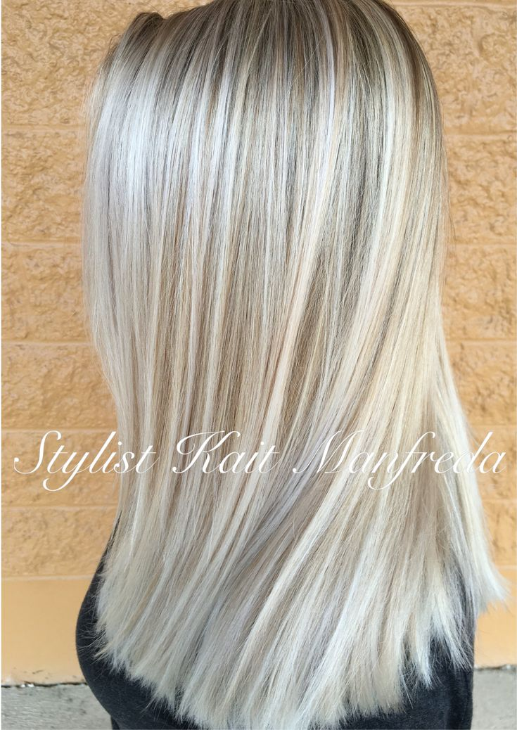 Blonde highlights platinum