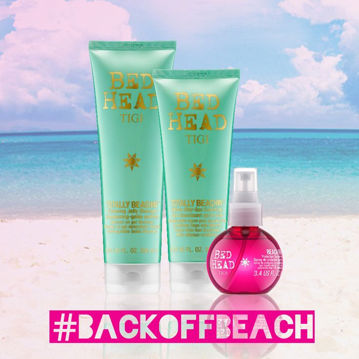 Heading to the beach anytime soon? Make sure to stock up on TIGI Totally Beachin' line or products, including a Cleansing Jelly Shampoo, a Mellow After Sun Conditioner and a Protection Spray for Colored Hair. Save your hair from dehydration with Beach Bound Protection Spray, helps the longevity of color and conditions in the hot sun. The Totally Beachin' Cleansing Jelly Shampoo and Mellow After-Sun Conditioner safely cleanse and condition the hair after a long day at the beach. #summerhair
