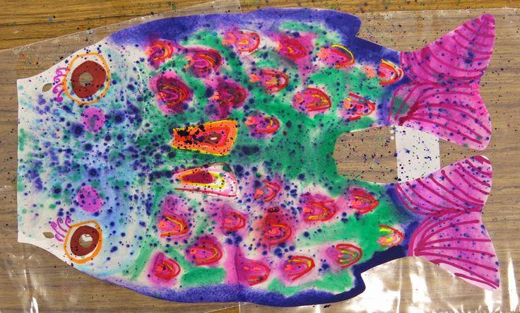 Cassie Stephens: In the Art Room: First Grade Koinobori for Children's Day!