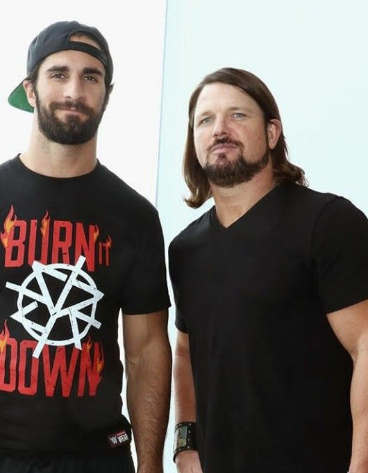 Sethieee and AJ Styles. Talented wrestlers from SmackDownLive and RAW.