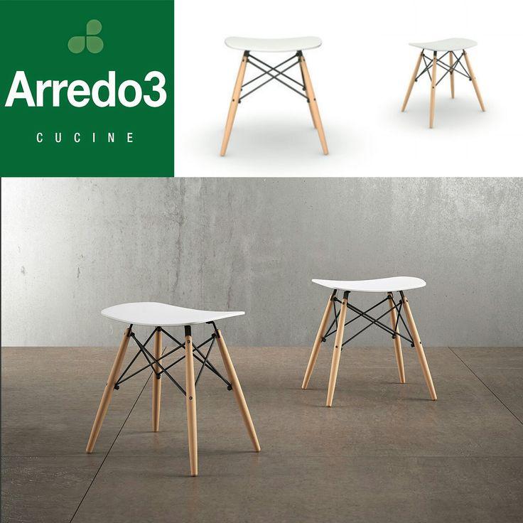 Vi presentiamo..NOEMI: gambe in faggio su struttura di metallo nero, seduta in polipropilene bianco. Perché anche un semplice #sgabello deve essere espressione di #design. http://www.arredo3.it/tavoli-e-sedie/