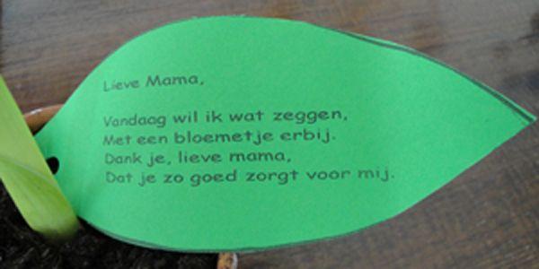 moederdag gedichtjes voor peuters - Google zoeken