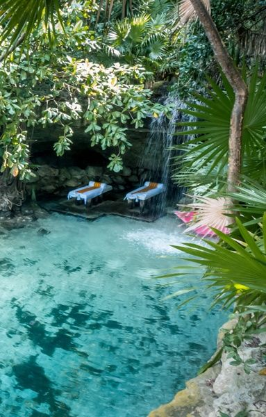 The Spa at Xcaret... It doesn't get any better than this, does it?http://hereandtherewithoutacare.com/xperience-the-xpa-at-xcaret-mexico/ #BoutiqueTravel #MexicoBoutiqueTravel