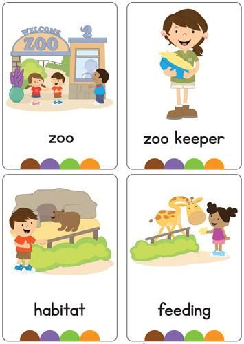 Brand new set of at the Zoo flash cards!  All brightly coloured and of high quality.  There are 24 brightly coloured, high quality printable flash cards in this pack.