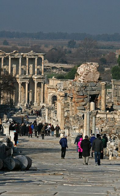 Ephesus, Turkey. Amazing to walk through such ancient city ruins. So much history