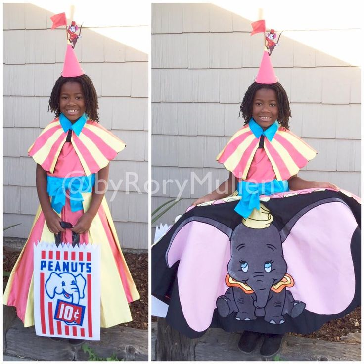 WOW! Fabulous DIY homemade Dumbo costume by Rory Mullen.