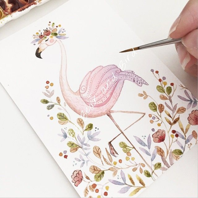 Everyone seems to love drawing flamingos lately. So here's our version of flamingo. Hope you like it ! | this illustration is available for personalized casings,notebooks,etc... Email us for details | #artlovers #atelier #womenartists#drawing #draw#instartpics#art_we_inspire#arts_help#worldofartists#handpainted#watercolor#watercolour#illustration#watercolorillustration#cutedrawing#whiteaddict#whitecultural#bigbearandbird#cute#happy#instagram#flamingo#floral