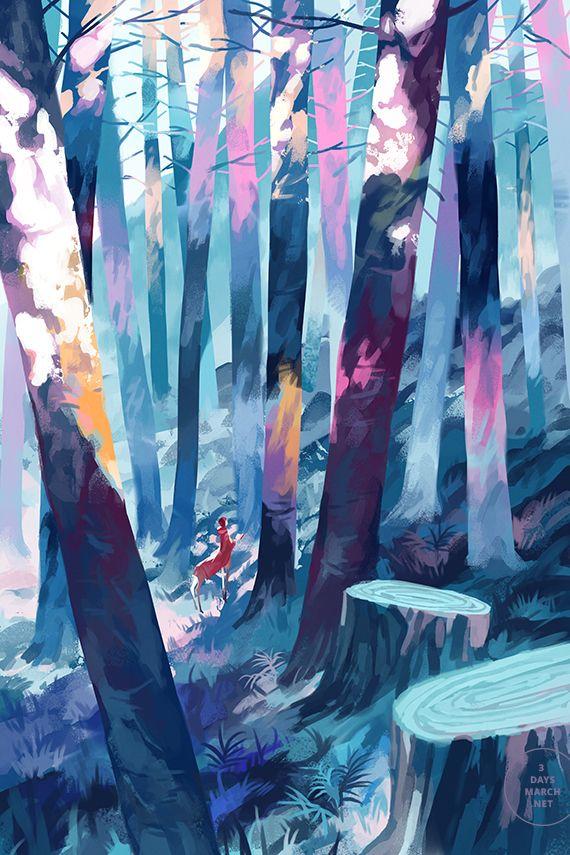 숲/동물/색감