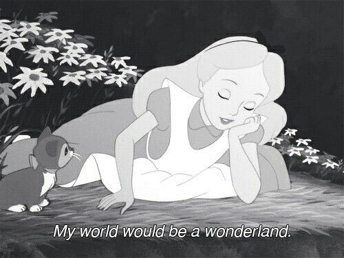 Dreaming about her wonderland