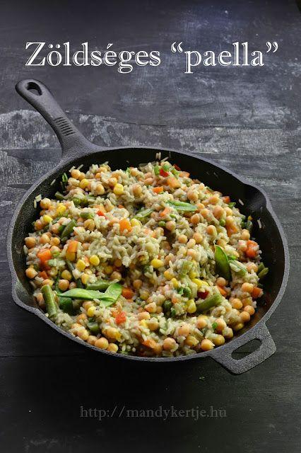 Mandy kertje és konyhája: Zöldséges paella
