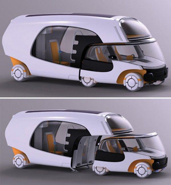 smart car + camper!!! Yep...a future Top Gear episode...