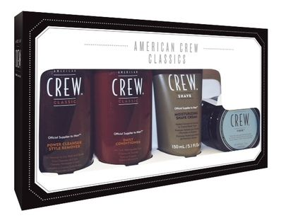 American Crew Classic Pack with Fiber - $39.95. Wow.. If you're looking for an outstanding range of Men's products and at a fantastic price then look no further, the American Crew Classic Pack with Fiber certainly ticks all the boxes!! The American Crew Classic Pack would make the perfect gift for any man.. cleanse hair, get a precision shave, add some style and then out the door looking your best to take on the day.
