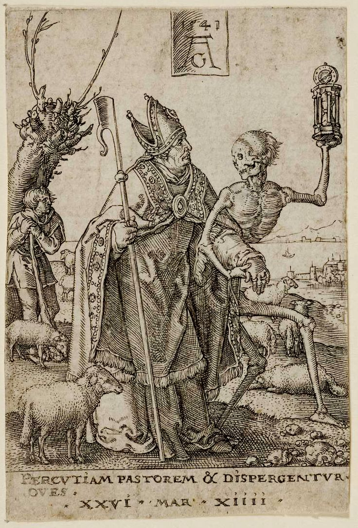 Death and the Bishop, from The Power of Death (Allegory of Original Sin and Death) Heinrich Aldegrever (German, Paderborn ca. 1502–1555/1561 Soest) Date: 1541