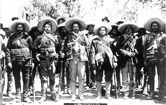 Pancho Villa's army in the Mexican Revolution