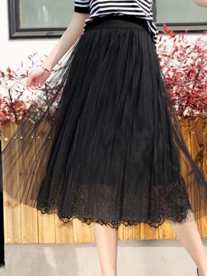 9196c3da0 Black Layered Skirt Buy Skirts Online, Black Layers, Layered Skirt, Midi  Skirt,