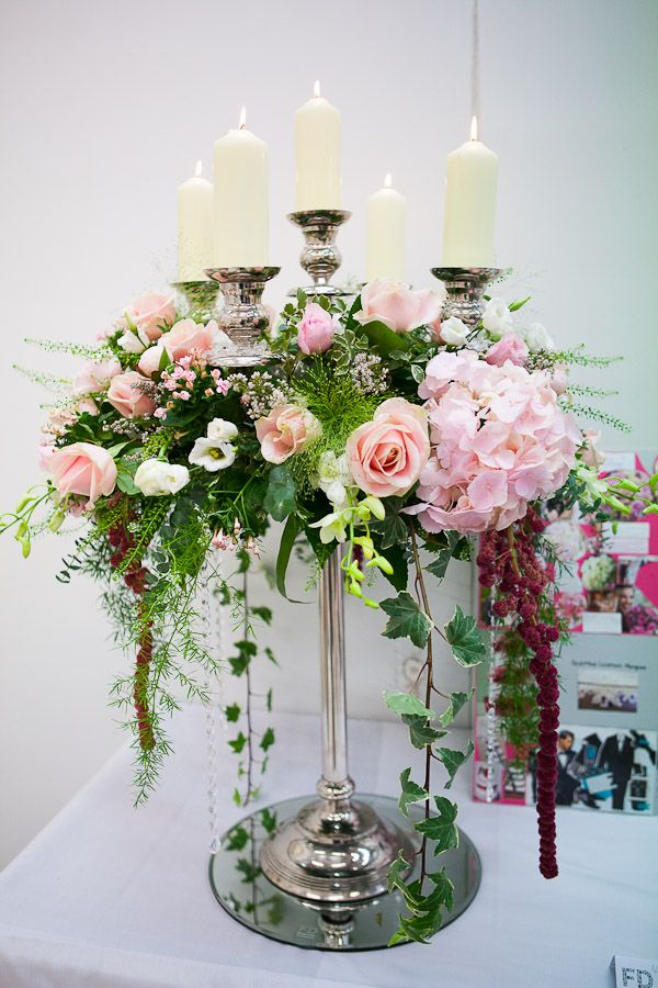 Candelabra Wedding centrepiece