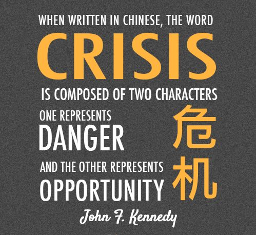 Each crisis is an opportunity in disguise essay