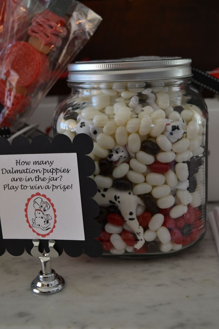 *** DOING This 101 Dalmatians Guessing Party Game using mini marshmallows ($2+ 10 for play set) instead of black, white & red jelly belly jelly beans ($28+10) #326 as of 10/20/15