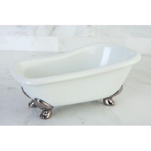 kingston miniature white clawfoot bath tub soap dish. Black Bedroom Furniture Sets. Home Design Ideas