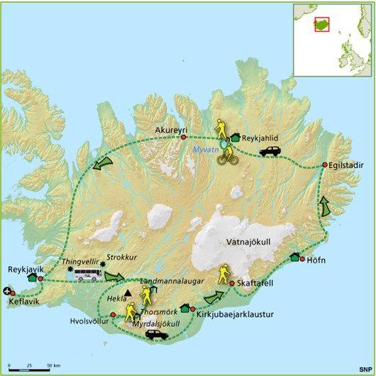 Laugavergur en Myvatn trektocht | vakantie IJsland vanuit berghutten en pensions