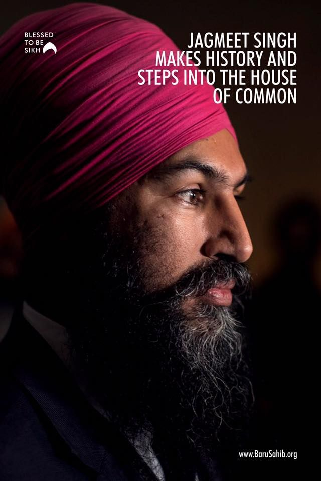 Blessedtobesikh Jagmeet Singh Makes History And Steps Into The House Of Common Sporting A Brigh Canadian History This Or That Questions Inspirational Leaders