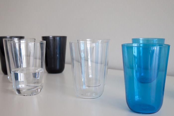 Blue glass/ Tonic glasses for Italesse.