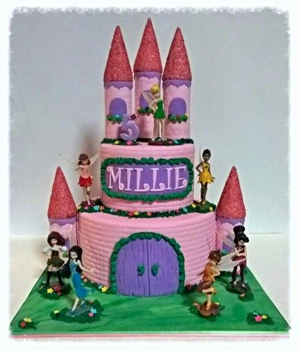 Tinkerbell and Fairies Castle cake.
