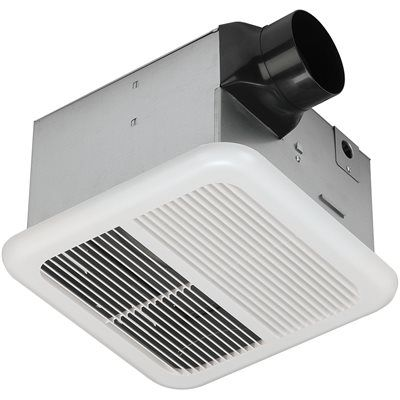 Utilitech 1.2 Sones 110 CFM White Bathroom Fan ENERGY STAR ...