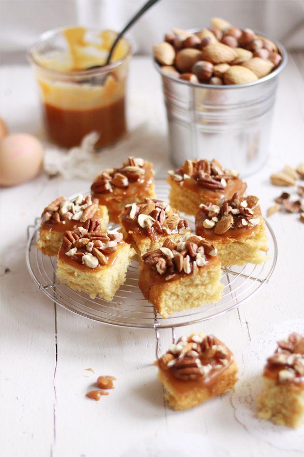 Gâteau du dimanche, caramel et noix | Fraise Basilic