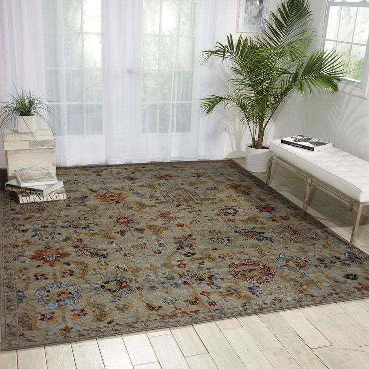 """Nourison Timeless Taupe Rug (8'6 x 11'6) (8'6"""" x 11'6""""), Grey (Nylon, Abstract)"""